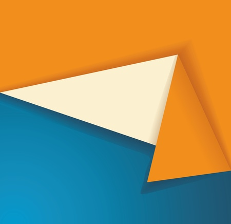 origami banner: origami banner, illustration