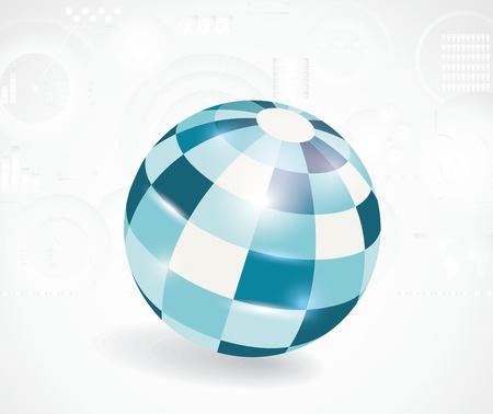 industrial scientific: Abstract 3d vector sphere