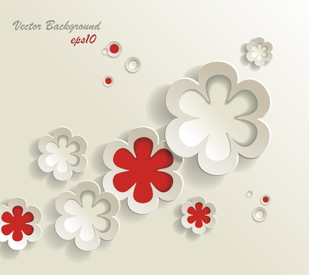 seamless pattern of flower stickers, vector background