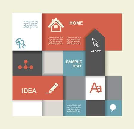 visualization: Modern Design template. Graphic or website layout