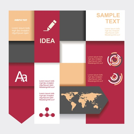 Modern Design template. Graphic or website layout  .  Vector