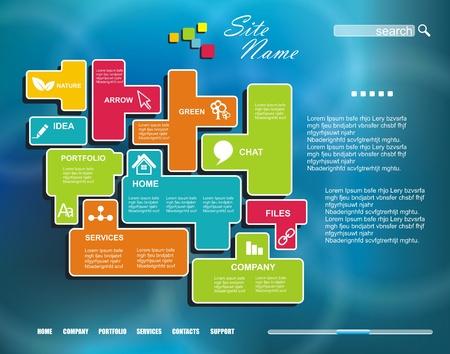 corporative: Corporate Website template. Creative Multifunctional Media design. Mobile interface.