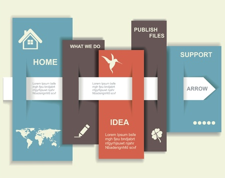 visual information: Modern Design template. Graphic or website layout