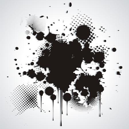 prejudiced:   Black blot isolated on white  Illustration