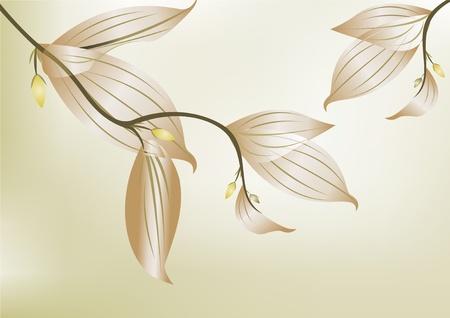 branch to grow up: Rama verde con licencia en el fondo blanco