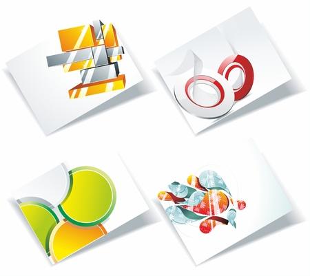 businesscard: Modern Business-Card Illustration