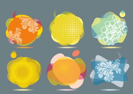 Collection of Colorful Speech And Thought Bubbles Background Vector  Illustration