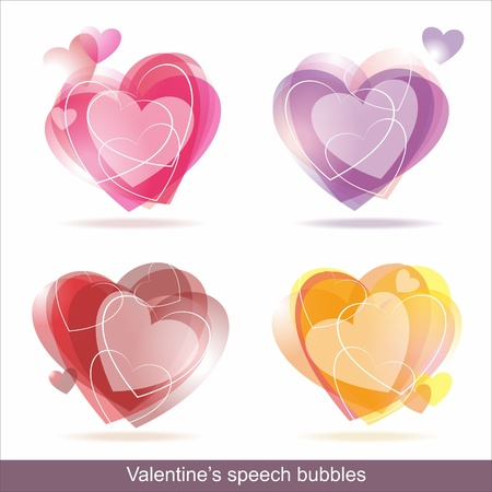 Collection of Colorful Speech And Thought Bubbles Background Vector  Vector