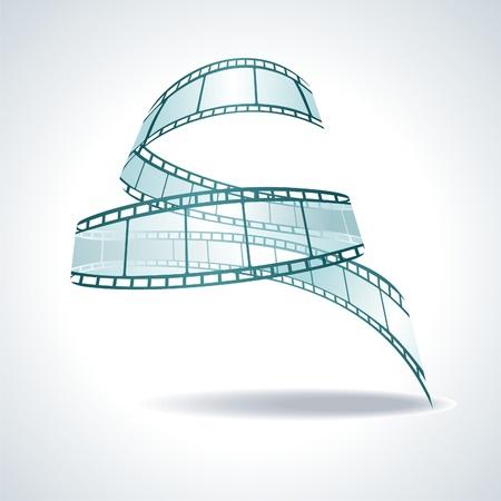 rollo pelicula: vector realista 3d rollo de película