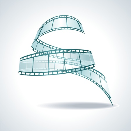 twisted: vector realistic 3d film reel