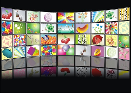vod: multimedia center presentation Illustration