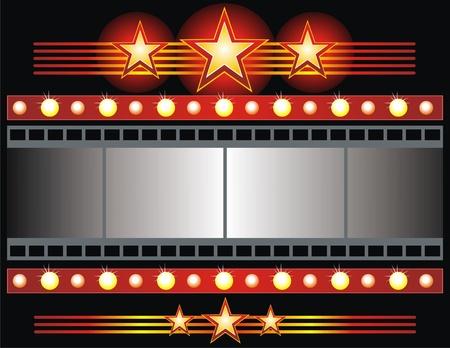 Vector film strip background colección