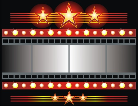 hollywood movie: Vector film strip background collection  Illustration