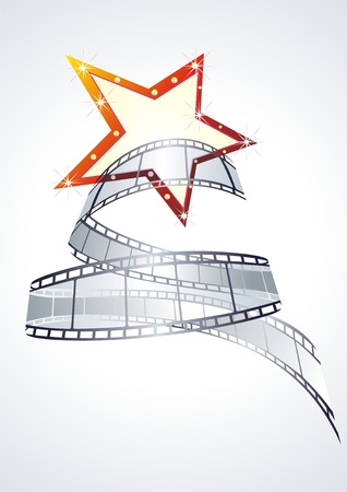 filmroll: vector realistic 3d film reel