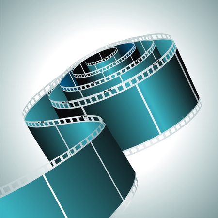 vector realistic 3d film reel  Vector