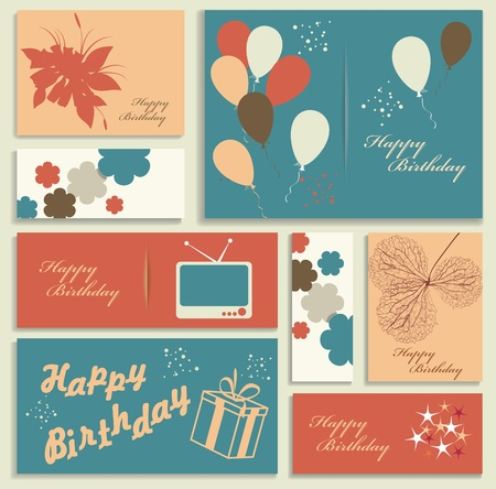 Illustration for happy birthday card  Vector