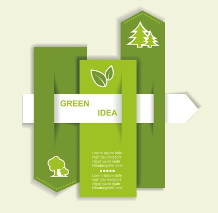 Grey-green website with arrow  Ecology concept Vector
