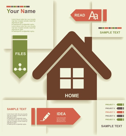 home group: Modern Design template  Graphic or website layout