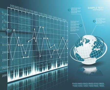Blue globe on the digital technology background Stock Vector - 18245771