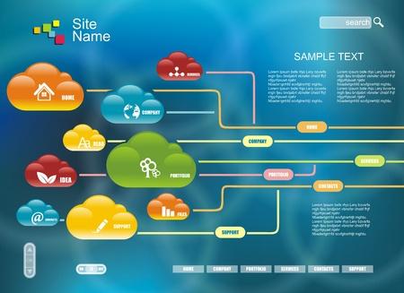 conectividad: La computaci�n en nube, concepto tecnolog�a de conectividad Vectores