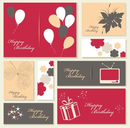 Illustration for happy birthday card. Stock Vector - 18245767
