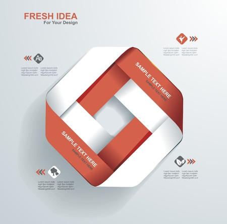 Modern Design template.Use for infographics,numbered banners,web design. Illustration