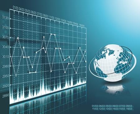Blue globe on the digital technology background Stock Vector - 18270114