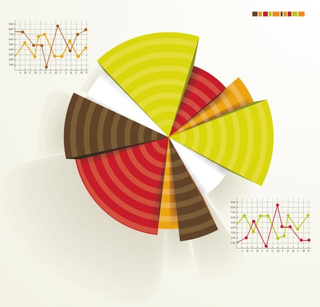 Business pie chart for documents and reports for documents, reports, graph, infographic, business plan, education Vector