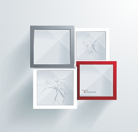 Paper Frames  Abstract 3D Geometrical Design