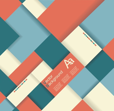 Abstract distortion from rhomb shape background Vector