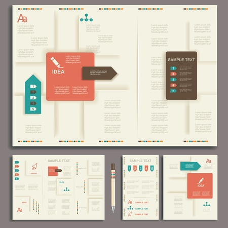 Corporate identity template  Vector company style for brandbook and guideline
