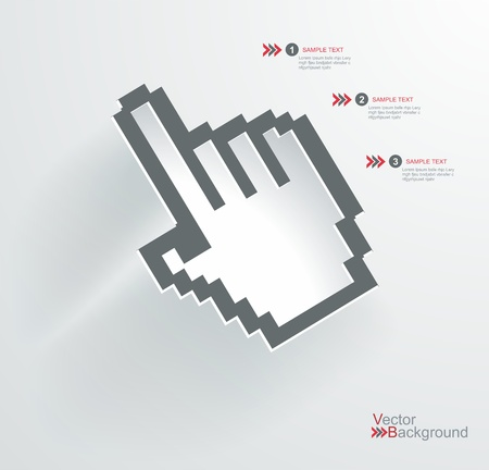Vector hand cursor  Vector