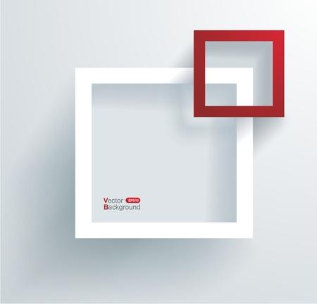 Witte en rode frames op de muur