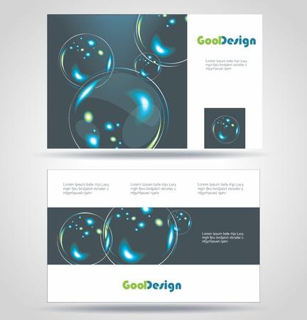 Blue Modern Business-Card Set   EPS10 Vector Design Vector