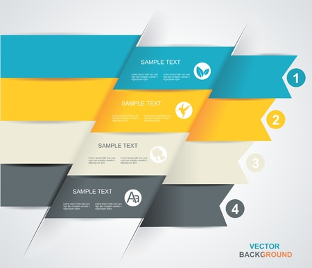 Modern business steb origami style options banner Stock Vector - 19053815