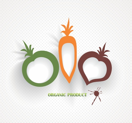 organic and farm fresh food badge and label Vector