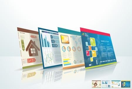 웹 디자인의 개념 일러스트