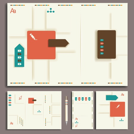 guideline: Corporate identity template. Vector company style for brandbook and guideline.