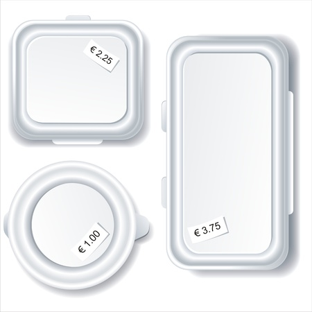 disposable: empty plastic container, vector