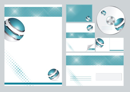 stationary set: corporate identity template