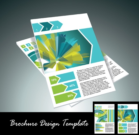 magazine template: brochure design element, vector illustartion Illustration