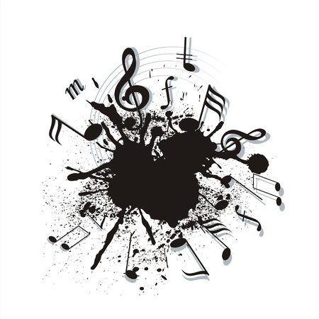key signature: music notes twisted into a spiral