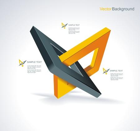 Illustration with orthogonal rhomb symbols Unity concept Vector Stock Vector - 19246500