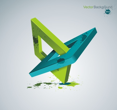 Illustration with orthogonal rhomb symbols.Unity concept.Vector. Vector