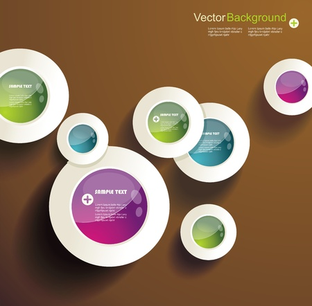 Abstract 3d circles background design  Vector