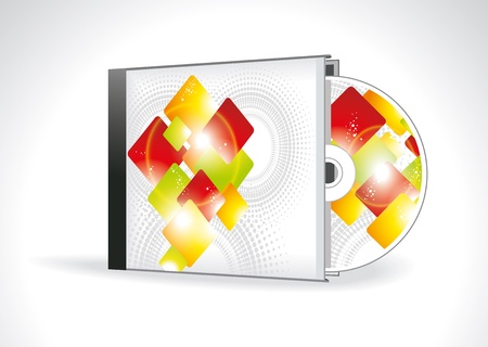 case sheet: CD Cover Design with 3D Presentation Template