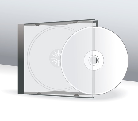CD Cover Design with 3D Presentation Template  Illustration