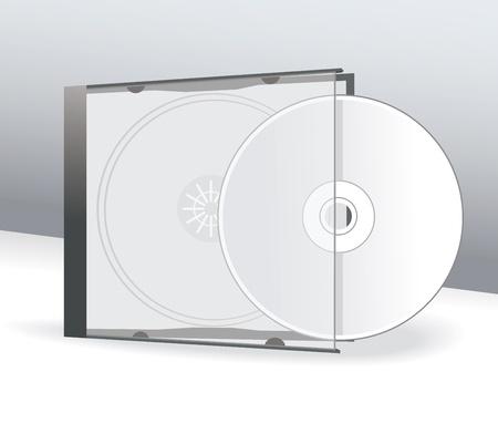 cd case: CD de dise�o de la cubierta con 3D Presentaci�n Plantilla Vectores
