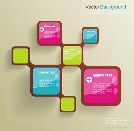 Retro Style Website Template, Vector design frame. Illustration