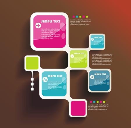 Retro Style Website Template, Vektor Design-Rahmen. Illustration